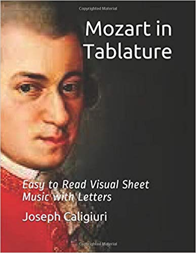 Mozart in Tablature Play Piano By Letters